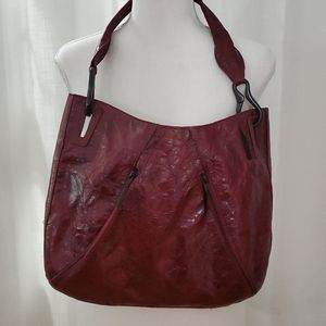 Matt & Nat Bags - Matt & Nat hobo vegan purse maroon eco friendly